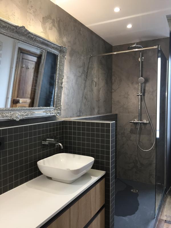 salle de bain meuble delpha et robinetterie hansgrohe